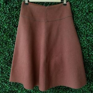 HD in Paris Brown Midi Neoprene Skirt S